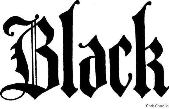 black letter dictionary definition