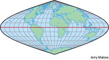 Sinusoidal projection dictionary definition | sinusoidal projection on